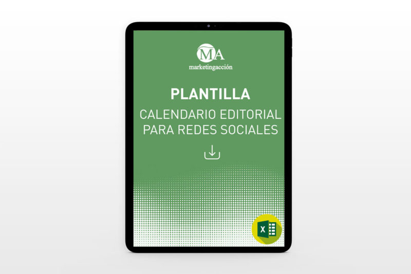 Marketing Acción - Descargar Plantilla Calendario Editorial para RRSS